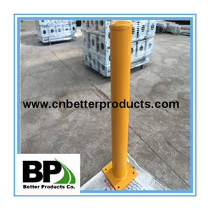 Wholesale Other Security & Protection Products: Powder Coated Yellow Surface Mounted Steel Bollard