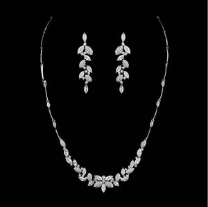 Wholesale wholesale sterling silver jewelry: Custom Made Zircon Jewelry Set Italina Party Jewelry