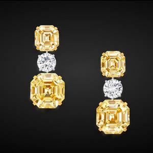 Wholesale gold earrings: Custom Made Gold Sun Cubic Zircon Stud Earrings