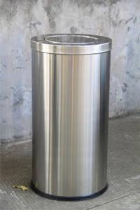 Wholesale preparation station: Swing Lid Trash Can Stainless Steel Waste Bin