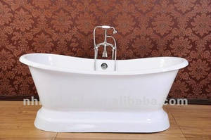 Wholesale floor care: Western Stly Bath with Pededtal, Paint Cast Iron Bathtub, High Art Sanitary Ware