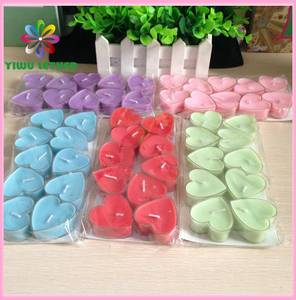 Wholesale jelly bag: Heart Shaped Lovers Romantic Votive Tealight Birthday Candles