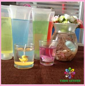 Wholesale crystal: Small Jar Ocean Style Jelly Scented Candles, Jelly Candle Container, Cylinder Tube Glass Jelly Wax