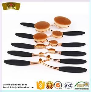 Wholesale gold set: China Factory Direct Sale Rose Gold Oval Makeup Brush Set