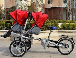 Wholesale Other Sports Products: Tagalan 3 Wheels Folding Bicycle 16inch Pushchair Mother Baby Stroller Bike Carrier 3 in 1 with Cano