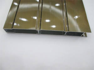 Wholesale champagne: Champagne Electrophoresis Aluminum Shutter Door Profile