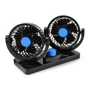 Wholesale cooling fan: Taotuo 12V Electric Car Fan 360 Degree Rotatable 2 Speed Dual Head Car Auto Cooling Air Circulator F