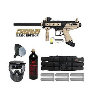 Wholesale anti fog mask: Paintball Marker Gun Tan Tippmann Cronus Tactical Semi Auto Basic Edition