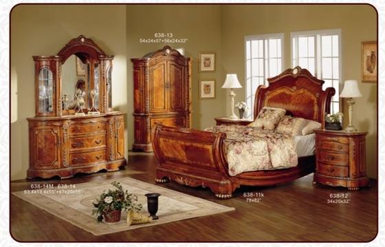 Sell Classical American style wooden bedroom furniture set