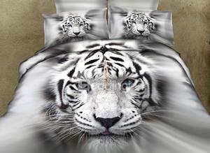 Wholesale wholesale sheet sets: Low Price Favorable 3D 100% Cotton Animal Tiger Printed Bedding Set