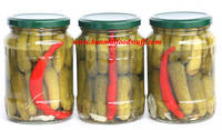 Pickled Cucumber in Glass Jar