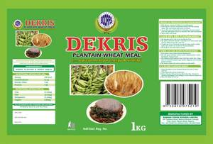 Wholesale Cereal: DEKRIS Plantain-Wheat Meal
