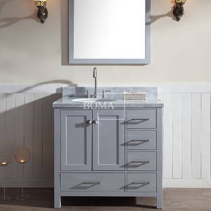 Wholesale mirror cabinet: 36 Inch Mirrors Grey Bathroom Sink Vanity Cabinet Full Sets