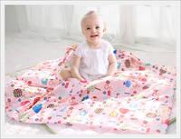 Cozy Animal Attachment Blanket Thin Wadding Blanket Type