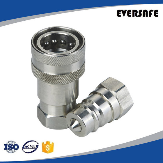 Stainless Hydraulic Quick Coupler : Stainless steel hydraulic quick release coupling with