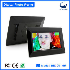 Wholesale photo frame: 2015 New Design 7 Inch Digital Photo Frame with Customization LED High Resolution Display