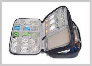 Wholesale travel bag: BUBM  Waterproof Nylon Cable Organzier Bag Digital Accessories Storage Bag for Travel