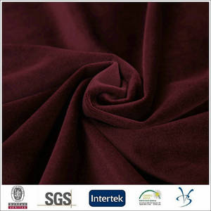 Wholesale velvet: Polyester Hot Sales Italian Velboa Plush Velvet Men Suit Fabric