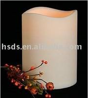 Battery Operated Flameless LED Wax Candle Yellow Warm Light