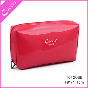 Wholesale pvc travel bag: OEM Fashion Promotion Girls Simple Style Zip Travel Custom PVC Cosmetic Bag