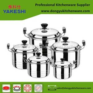 Wholesale Cookware Sets: Best Selling OEM 10pcs Stainless Steel Cookware Set and Cooking Pot Set
