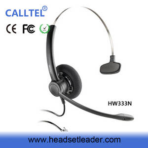 Wholesale Telephone Accessories: Professional Telemarketing Headset with Noise Cancelling Mircophone Rj Jack