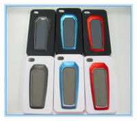 Sell black can stand silicone mobile phone protective cases for apple