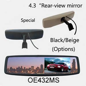 Wholesale car pc: 1pc/lot Brand new 4.3 TFT-LCD Screen Special Original Rear View Mirror Car Monitor,12V Auto Monitor