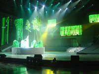 Sell curtain display screen P18.75 (used as stage background)