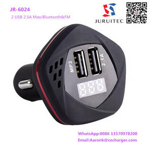 Wholesale usb car charger: Bluetooth FM Transmettor 2 USB 2.5A USB Car Charger Adaptor