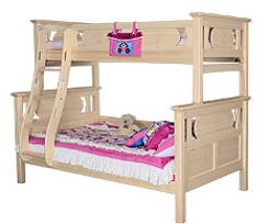 Wholesale bunk bed: Original Wood Color Bunk Bed with Ladder