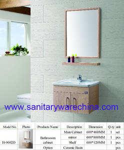 Wholesale mirror cabinet: Modern Alunimun Bathroom Vanity/ Aluminum Alloy Bathroom Cabinet/Mirror Cabinet H-9602D