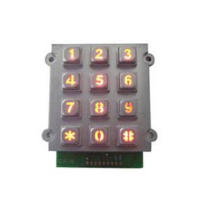 Wholesale keyboard with panel mounting: High Quality Mini Access Control Keypad New Matrix Keypad Backlit Rugged Keypad