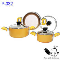 Aluminum Pressed Ceramic Casserole Cookware Set From