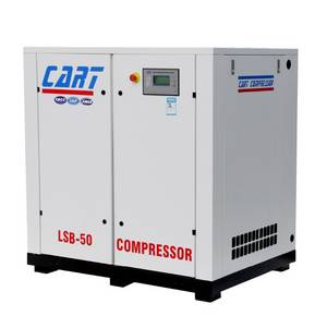 Wholesale screw air compressor: 37KW 50HP Screw Air Compressor Belt Driven High Efficient with Low Price