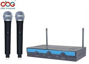 Wholesale battery pack: 16 CHN UHF PLL Dual Wireless Microphone