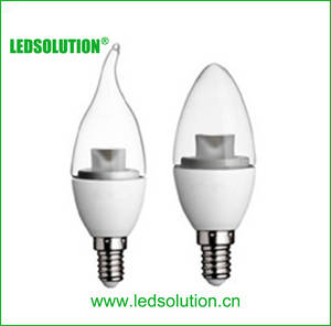 Wholesale led lighting: CE RoHS Approved 3W E27 LED Candle Light Bulb