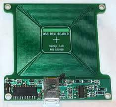 125kHz RFID Reader PCB with USB Bus-powere Interface