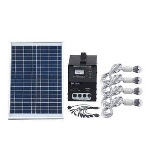 Wholesale mobile solar charger: 30W Solar Power Lighting System with USB Interface Solar Mobile Phone Charger Solar Fan