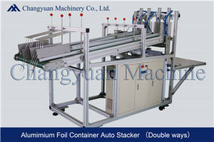 Wholesale pneumatic stacker: Aluminium Foil Container Double Ways Automatic Stacker