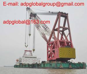 Wholesale t: Sell 1500t Floating Crane 1500 Ton Crane Barge Buy Crane Ship Rent Charter Sell Sale