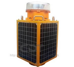Wholesale solar panel: CK-16-T 4pcs Solar Panel High Effiency Solar Beacon Lights Tower Obstruction Warning Light