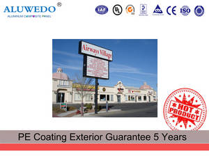 Wholesale hotel telephone: 46*98'' A1100 PE Coated High Glossy Outdoor Sign Board Material Alucobond ACM