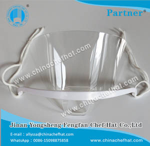 Wholesale sanitary face mask: Anti-fog Transparent Face Mask with White Border