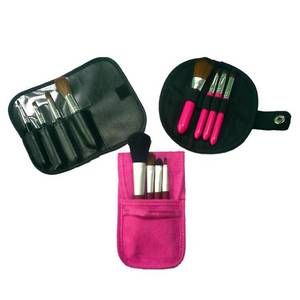Wholesale makeup brush goat hair: Fashion Portable Makeup Brush Set Gift Cosmetic Kits