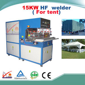 Wholesale welding materials: 15KW G Type Side Control Panel High Frequency PVC Coating Material Welding Machine