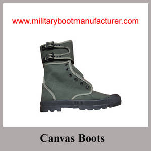Wholesale Boots: Wholesale China Made Army Green Color Police Cotton Canvas Boot