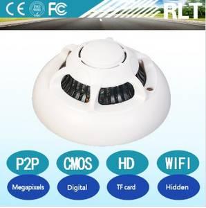Wholesale digital video recorder: CMOS 0.3MP HD Mini Hidden Camera Wifi P2P Protocol AVI Digital Smoke Detector Video Recorder 90de Vi