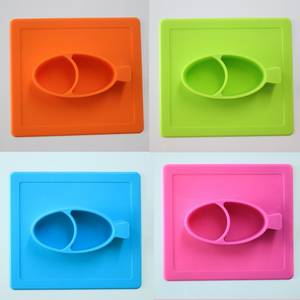 Wholesale silicone kids placemat: Baby Dinner Silicone Placemat