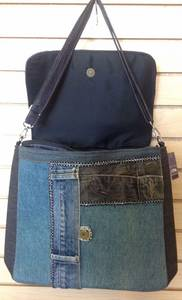Wholesale hand made: Jean Denim Handbags Handmade Recycled